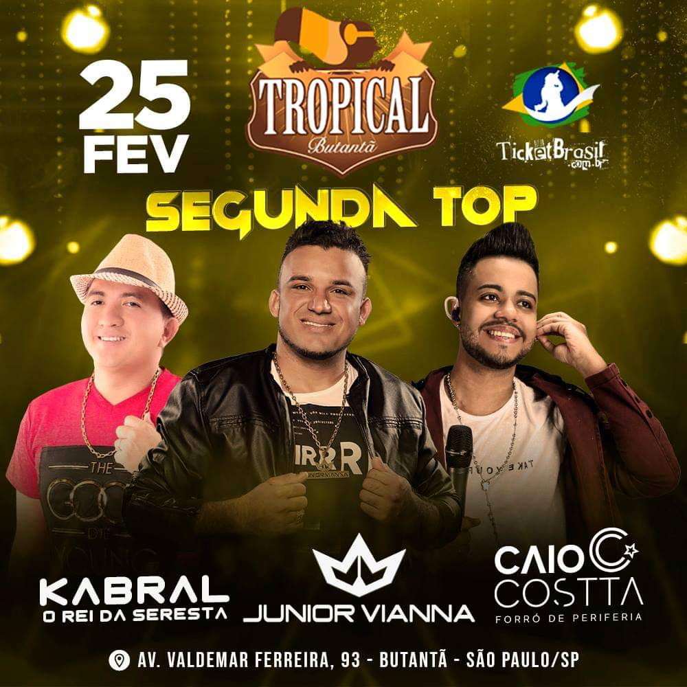 Junior Vianna, Caio Costta e Kabral